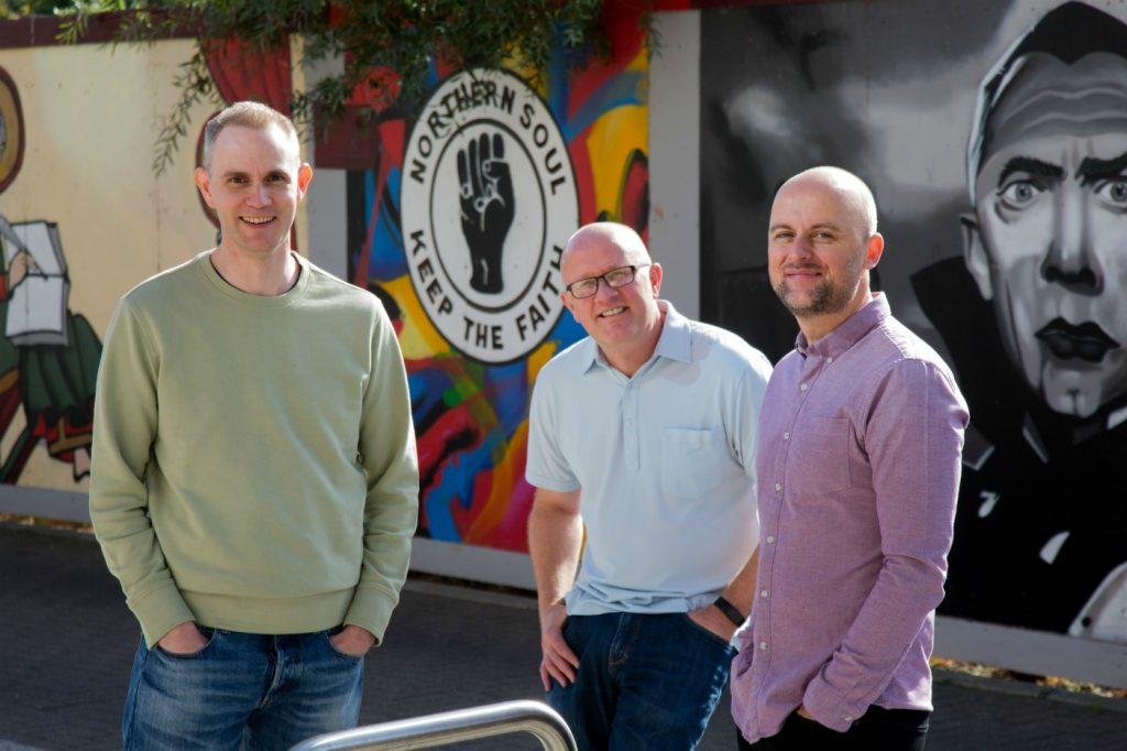 Transmit Startup Directors (L-R) Ian Straker Damian Baetens and Richard Myers who have now launched Learn Smarta