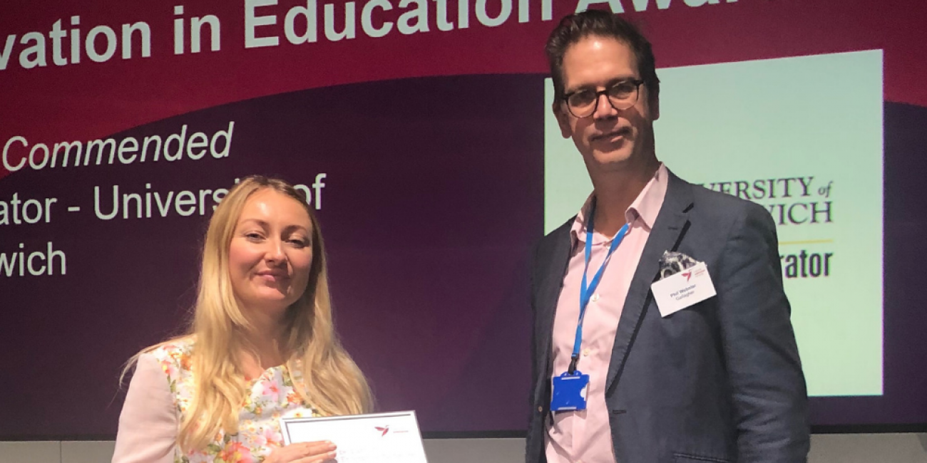 Innovation in Education Award HIGHLY COMMENDED: University of Greenwich
